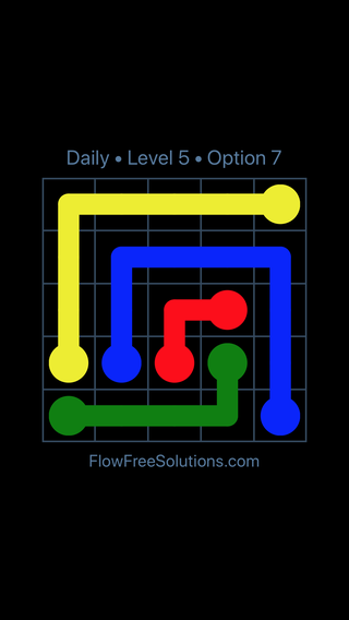 Solution and Answer to the Puzzle for Flow Date Thursday, April 8, 2021 Level 5
