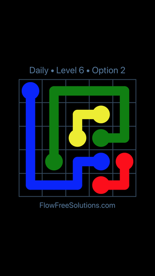 Solution and Answer to the Puzzle for Flow Date Thursday, June 9, 2016 Level 6
