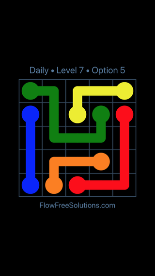 Solution and Answer to the Puzzle for Flow Date Thursday, March 17, 2016 Level 7