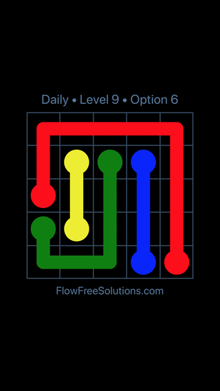 Solution and Answer to the Puzzle for Flow Date Thursday, June 9, 2016 Level 9