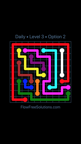 Solution and Answer to the Puzzle for Flow Date Friday, June 10, 2016 Level 3