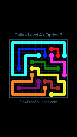 Solution and Answer to the Puzzle for Flow Date Friday, June 10, 2016 Level 4