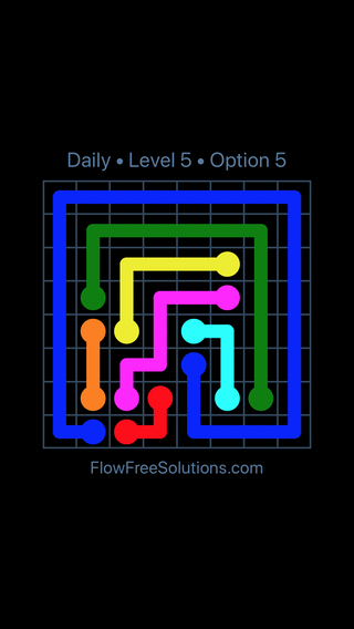 Solution and Answer to the Puzzle for Flow Date Friday, June 10, 2016 Level 5