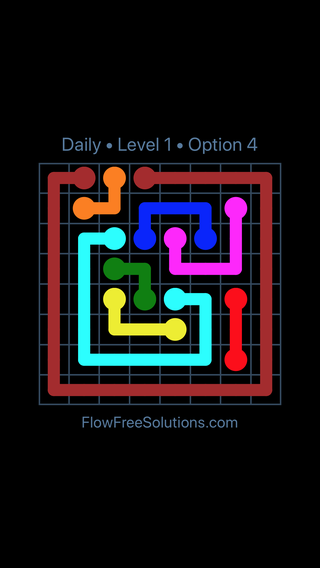 Solution and Answer to the Puzzle for Flow Date Saturday, March 19, 2016 Level 1