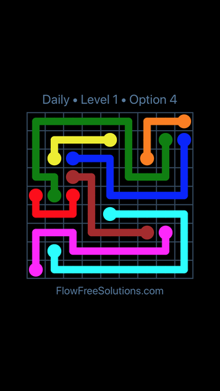 Solution and Answer to the Puzzle for Flow Date Sunday, July 8, 2018 Level 1