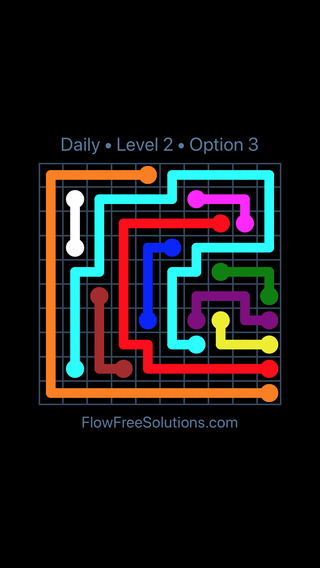 Solution and Answer to the Puzzle for Flow Date Sunday, June 12, 2016 Level 2