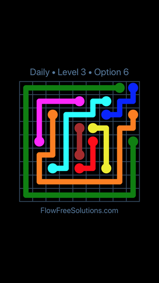 Solution and Answer to the Puzzle for Flow Date Sunday, April 15, 2018 Level 3