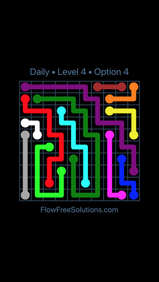 Solution and Answer to the Puzzle for Flow Date Sunday, March 20, 2016 Level 4