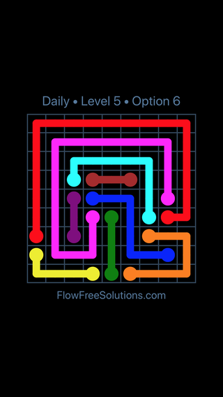 Solution and Answer to the Puzzle for Flow Date Sunday, March 20, 2016 Level 5