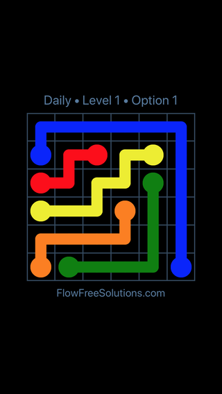 Solution and Answer to the Puzzle for Flow Date Monday, June 13, 2016 Level 1