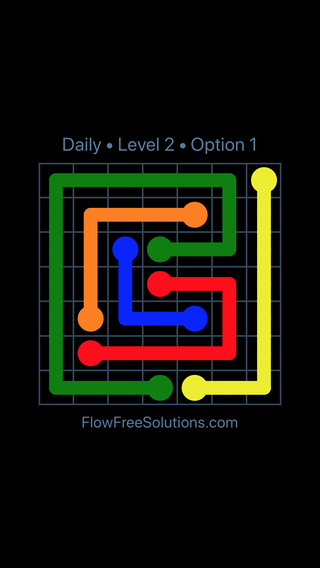 Solution and Answer to the Puzzle for Flow Date Monday, April 16, 2018 Level 2
