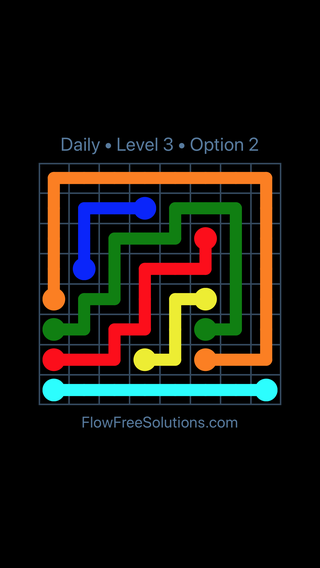 Solution and Answer to the Puzzle for Flow Date Monday, June 13, 2016 Level 3