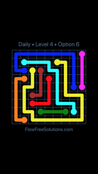 Solution and Answer to the Puzzle for Flow Date Monday, March 21, 2016 Level 4