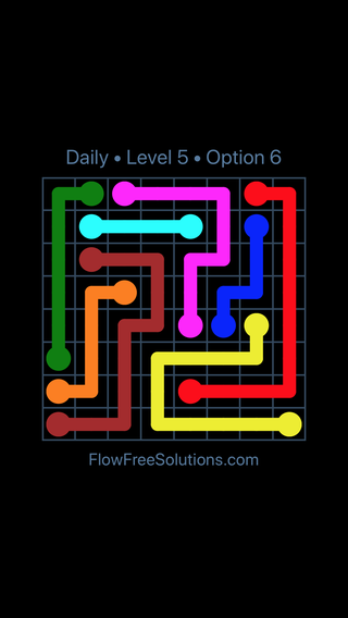 Solution and Answer to the Puzzle for Flow Date Monday, April 16, 2018 Level 5