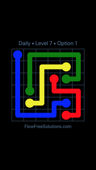 Solution and Answer to the Puzzle for Flow Date Monday, March 21, 2016 Level 7