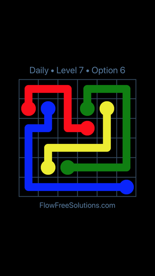 Solution and Answer to the Puzzle for Flow Date Monday, April 16, 2018 Level 7