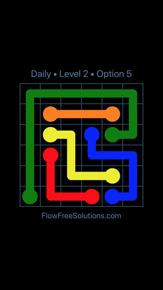 Solution and Answer to the Puzzle for Flow Date Tuesday, March 22, 2016 Level 2