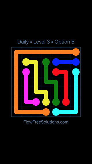 Solution and Answer to the Puzzle for Flow Date Tuesday, June 14, 2016 Level 3