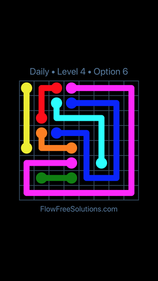Solution and Answer to the Puzzle for Flow Date Tuesday, June 14, 2016 Level 4