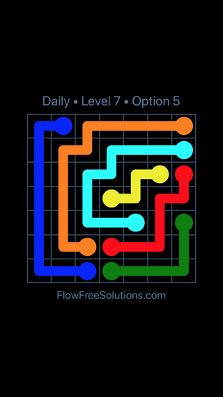 Solution and Answer to the Puzzle for Flow Date Tuesday, April 17, 2018 Level 7