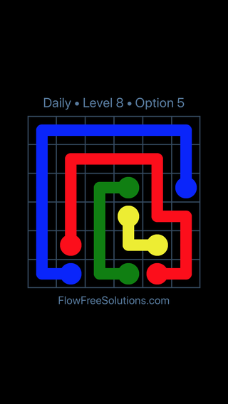 Solution and Answer to the Puzzle for Flow Date Tuesday, June 14, 2016 Level 8