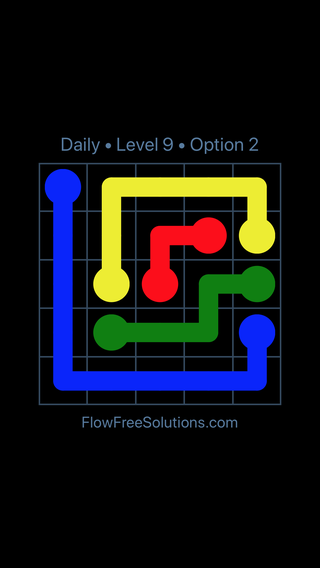 Solution and Answer to the Puzzle for Flow Date Tuesday, March 22, 2016 Level 9