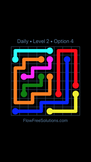 Solution and Answer to the Puzzle for Flow Date Wednesday, March 23, 2016 Level 2