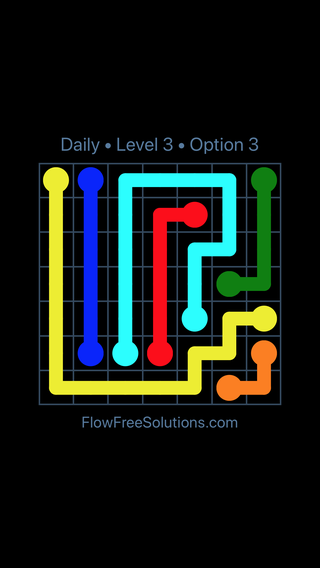 Solution and Answer to the Puzzle for Flow Date Wednesday, March 23, 2016 Level 3