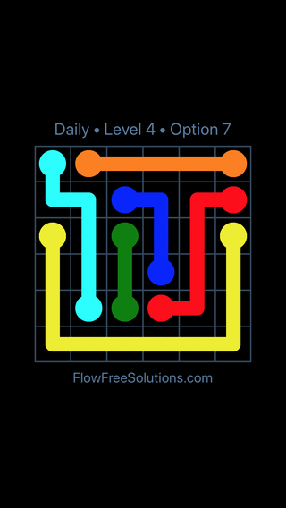Solution and Answer to the Puzzle for Flow Date Wednesday, June 15, 2016 Level 4