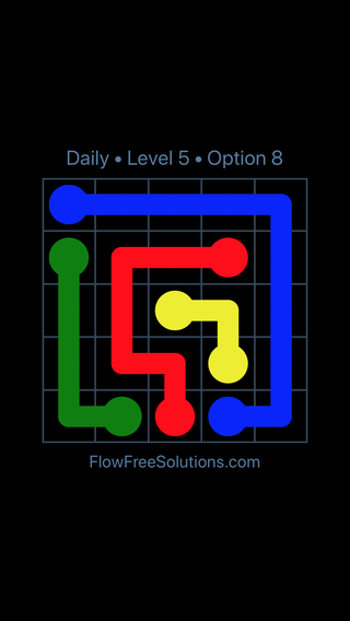 Solution and Answer to the Puzzle for Flow Date Wednesday, April 18, 2018 Level 5