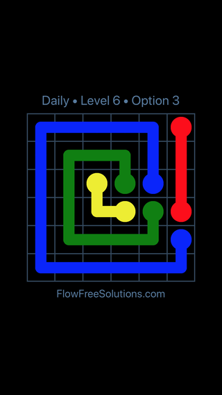 Solution and Answer to the Puzzle for Flow Date Wednesday, June 15, 2016 Level 6
