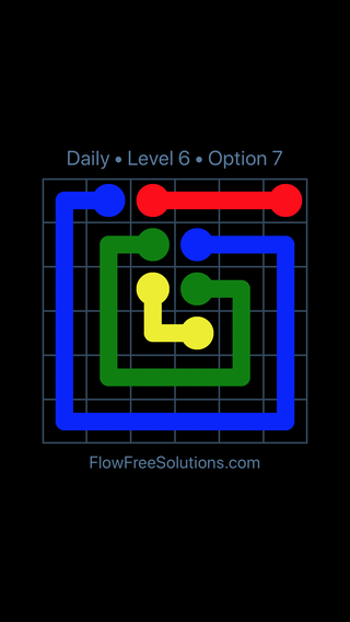 Solution and Answer to the Puzzle for Flow Date Wednesday, April 18, 2018 Level 6