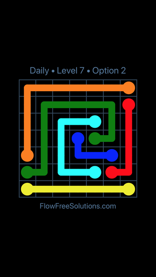 Solution and Answer to the Puzzle for Flow Date Wednesday, June 15, 2016 Level 7