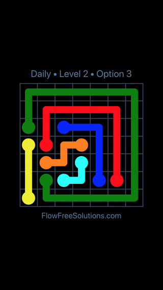 Solution and Answer to the Puzzle for Flow Date Thursday, June 16, 2016 Level 2
