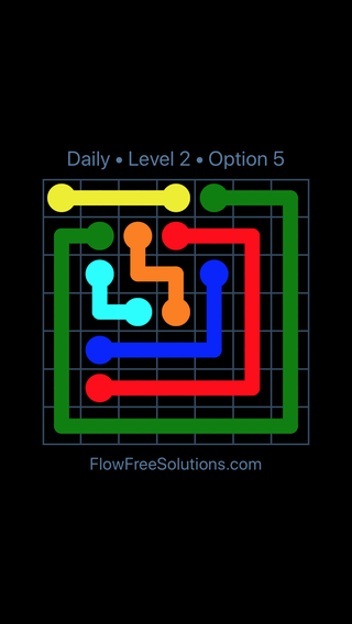Solution and Answer to the Puzzle for Flow Date Thursday, March 24, 2016 Level 2