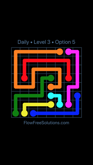 Solution and Answer to the Puzzle for Flow Date Thursday, March 24, 2016 Level 3