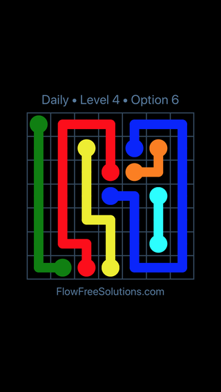 Solution and Answer to the Puzzle for Flow Date Thursday, March 24, 2016 Level 4