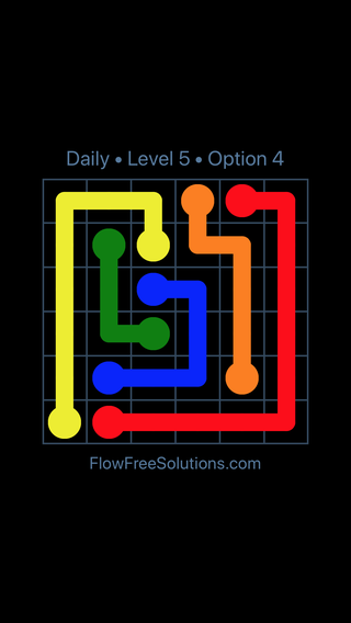 Solution and Answer to the Puzzle for Flow Date Thursday, March 24, 2016 Level 5