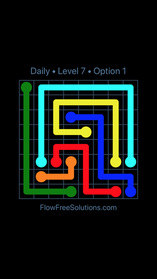 Solution and Answer to the Puzzle for Flow Date Thursday, June 16, 2016 Level 7