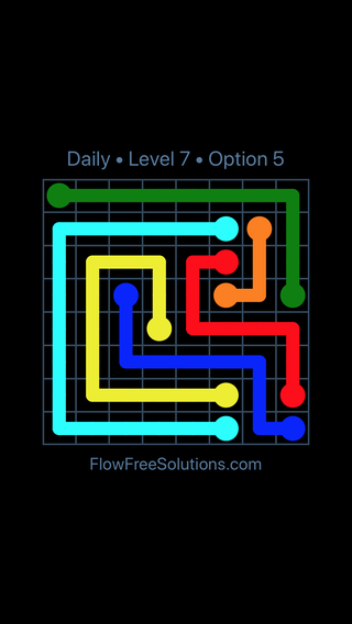 Solution and Answer to the Puzzle for Flow Date Thursday, March 24, 2016 Level 7