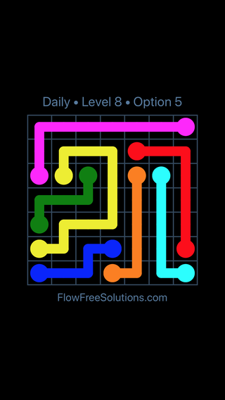 Solution and Answer to the Puzzle for Flow Date Thursday, July 12, 2018 Level 8