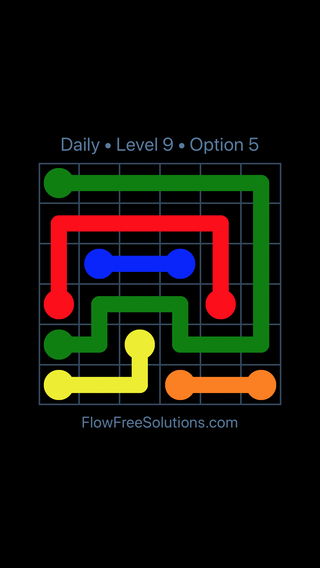 Solution and Answer to the Puzzle for Flow Date Thursday, June 16, 2016 Level 9