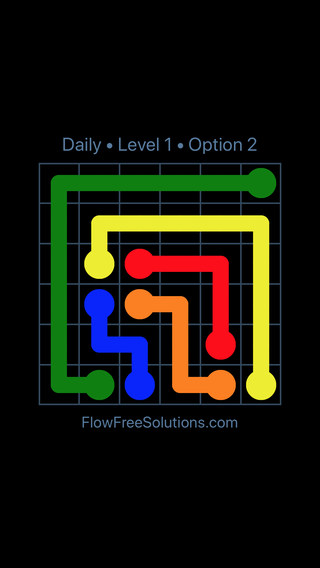 Solution and Answer to the Puzzle for Flow Date Friday, March 25, 2016 Level 1