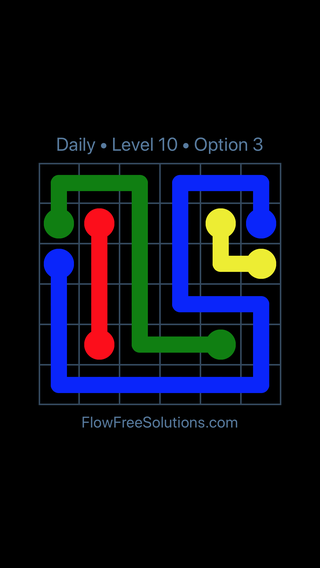 Solution and Answer to the Puzzle for Flow Date Friday, July 13, 2018 Level 10