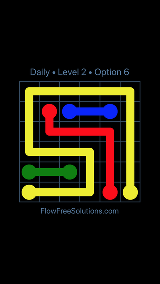 Solution and Answer to the Puzzle for Flow Date Friday, July 13, 2018 Level 2