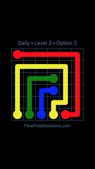 Solution and Answer to the Puzzle for Flow Date Friday, June 17, 2016 Level 3