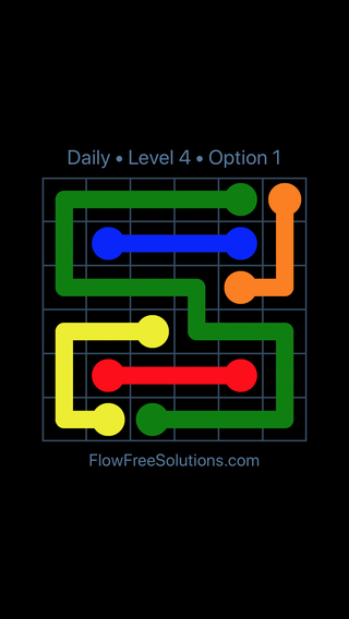 Solution and Answer to the Puzzle for Flow Date Friday, June 17, 2016 Level 4