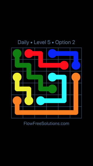 Solution and Answer to the Puzzle for Flow Date Friday, June 17, 2016 Level 5