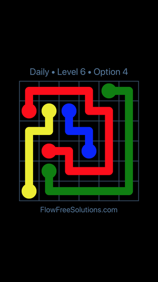 Solution and Answer to the Puzzle for Flow Date Friday, March 25, 2016 Level 6