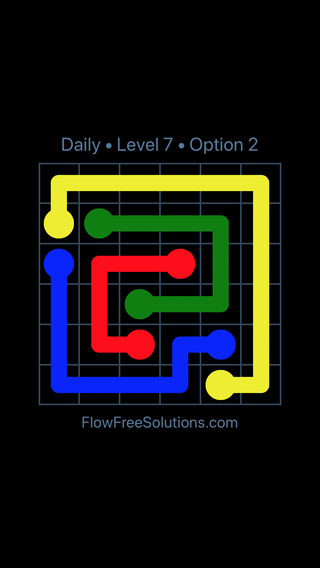 Solution and Answer to the Puzzle for Flow Date Friday, June 17, 2016 Level 7